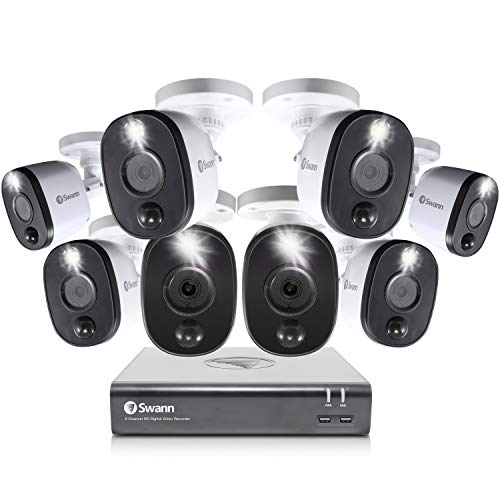 Swann Home Security Camera System, 8 Channel 8 Bullet Cameras,...