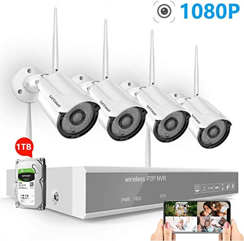 2020 New 1080P Full HD Security Camera System Wireless with 1TB...