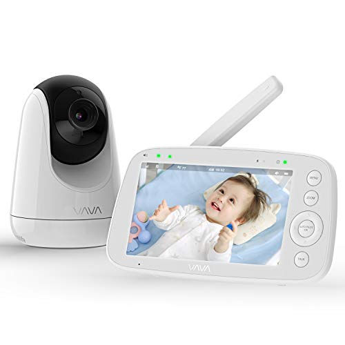 Baby Monitor, VAVA 720P 5' HD Display Video Baby Monitor with...