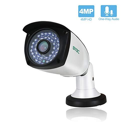SV3C 4 Megapixels POE IP Camera Outdoor/Indoor One-Way Audio,...