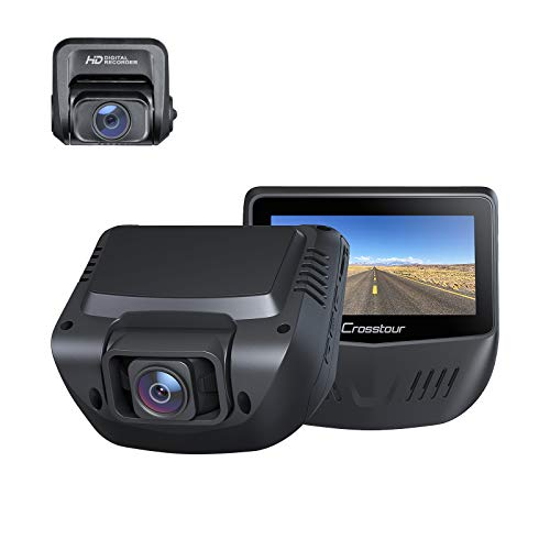Crosstour Dash Cam, 1080P Car Camera Front and Rear, 170° Wide...