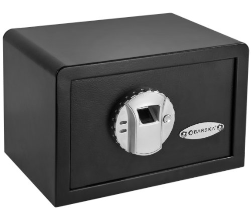BARSKA AX11620 Biometric Fingerprint Mini Security Home Safe Box...