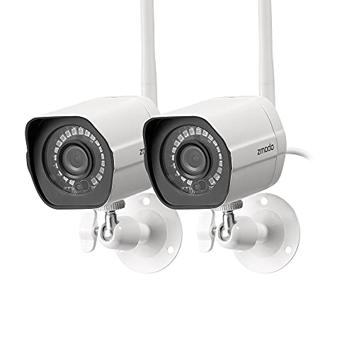 Zmodo Outdoor Security Camera Wireless (2 Pack), 1080p Full HD...