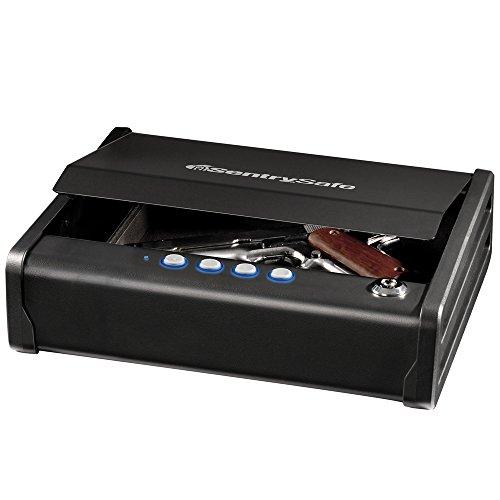 SentrySafe QAP1E Gun Safe with Digital Keypad One Handgun...