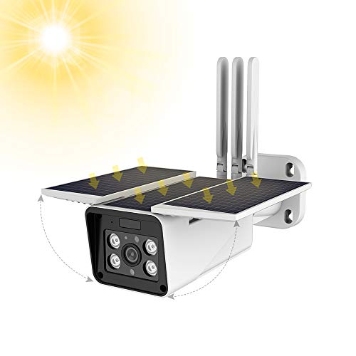 Solar Powered Wireless Outdoor 1080P Home Security Camera,2.4G...