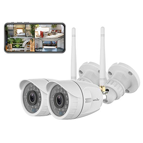 Wansview Outdoor Security Camera, Wansview 1080P Wireless WiFi...