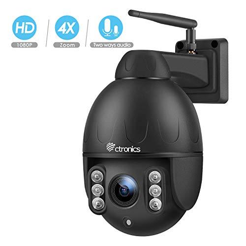 Ctronics PTZ Camera Outdoor,1080P WiFi Security IP Camera, 355°...