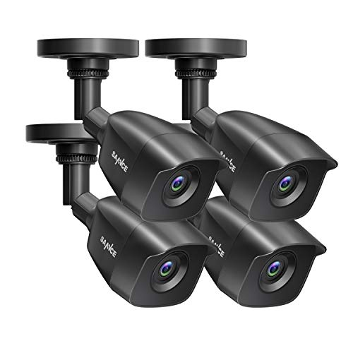 SANNCE 1080P 4 Pack Wired Home Security Camera with EXIR Night...