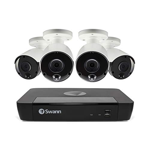 Swann 8 Channel 4 Camera Security System, PoE Wired Surveillance...