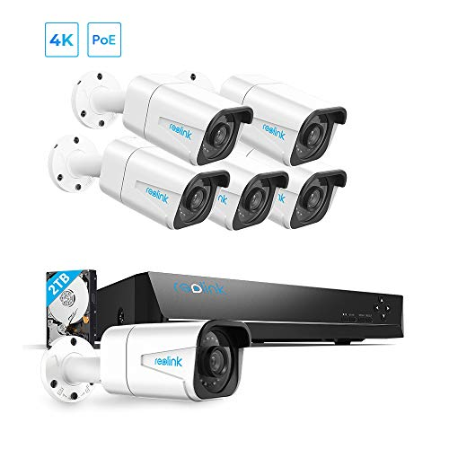 Reolink 4K PoE Home Security Camera System, 8 Channel NVR...