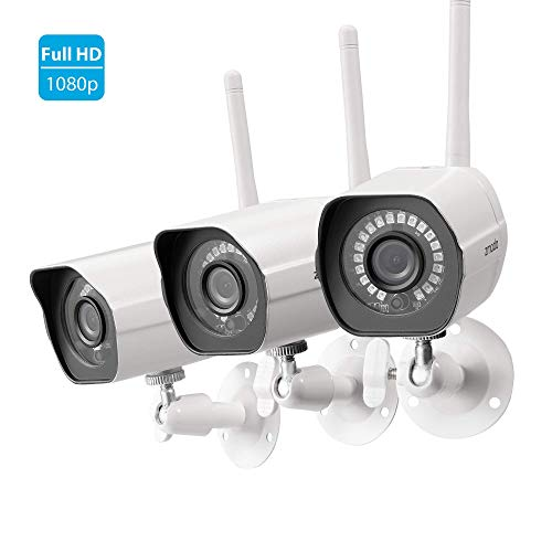 Zmodo Full HD 1080p Outdoor Wireless Security Camera System, 3...