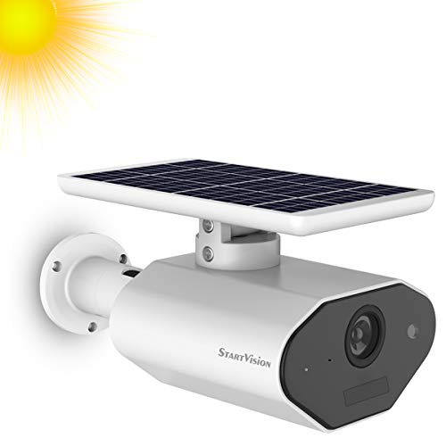StartVision Solar Powered Security Camera, Wireless Outdoor...
