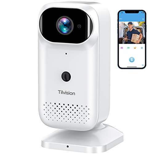 Wireless Security Camera, Rechargeable Battery Powered WiFi...