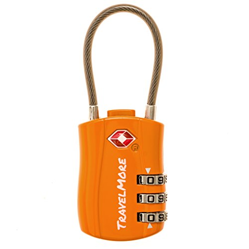 TSA Approved Travel Combination Cable Luggage Locks for Suitcases...