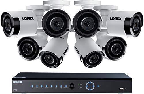 Lorex LNK71082T85B 8-Channel 4K 2TB PoE NVR with 8 5-Megapixel...