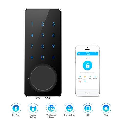 AKASO Smart Lock, Smart Electronic Door Lock APP Code Touch...