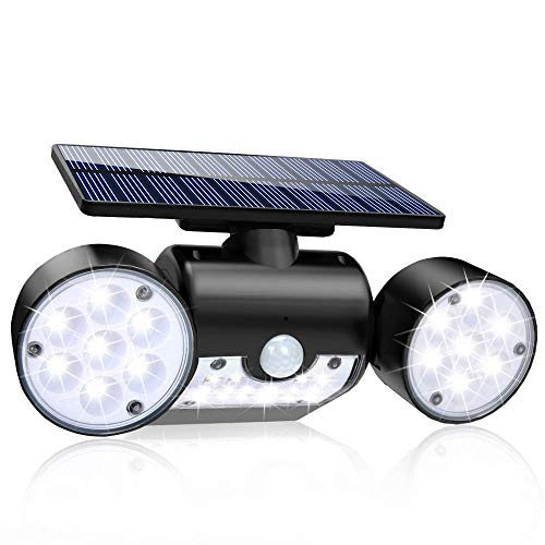 Solar Lights Outdoor, 30 LED Solar Security Lights with Motion...