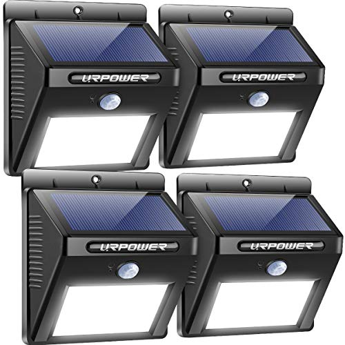 URPOWER Solar Lights Outdoor, Motion Sensor Security Lights Solar...