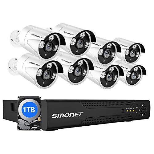 【16CH Expandable】 SMONET 5MP Lite Security Camera...