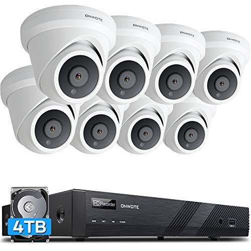 【Audio】 ONWOTE 16 Channel 4K 8MP IP PoE Security Camera...