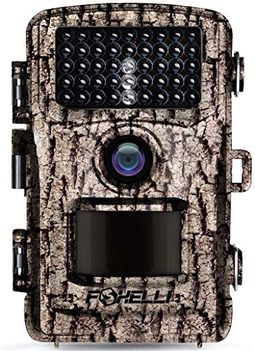 Foxelli Trail Camera – 14MP 1080P Full HD Wildlife Scouting...