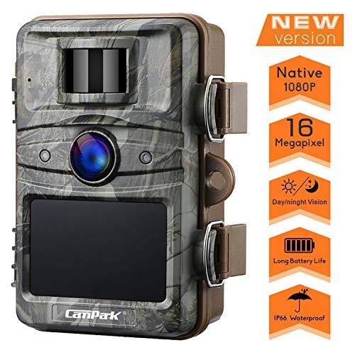 Campark Upgrade T70 Trail Game Camera No Glow 16MP 1080P Night...