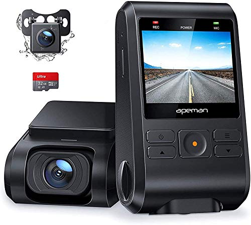 APEMAN Dash Cam, Front and Rear Camera for Cars 1080P, SD Card...