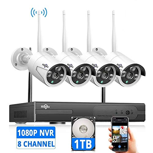 [Expandable 8CH] Hiseeu Wireless Security Camera System with 1TB...