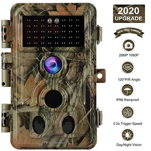 Game Trail Camera No Glow 20MP 1080P H.264 MP4/MOV Video Night...