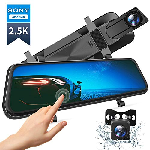 VanTop H610 10' 2.5K Mirror Dash Cam for Cars with Full Touch...