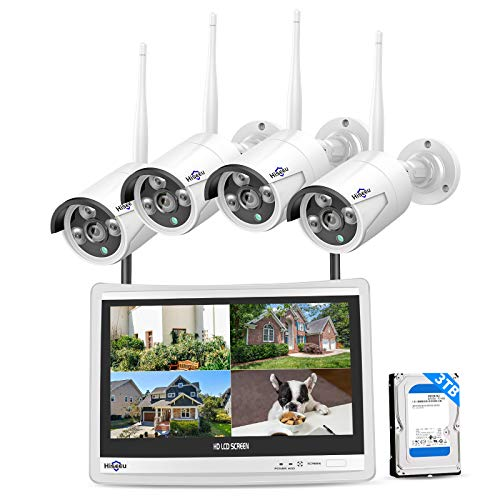 Hiseeu [8CH Expandable] All in one with 12' LCD Monitor Wireless...