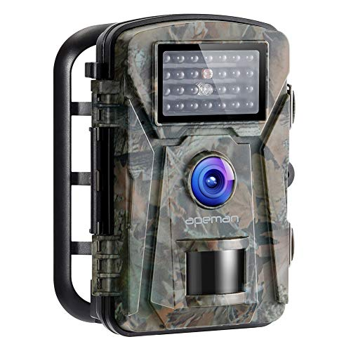 APEMAN Trail Camera 16MP 1080P No-Glow Infrared Night Vision...