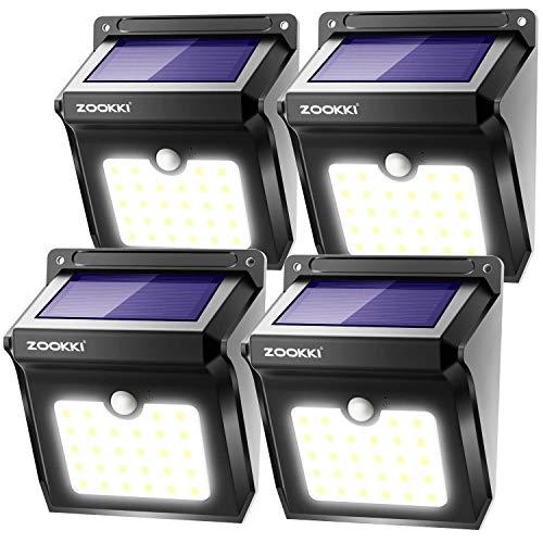 ZOOKKI Solar Lights Outdoor, 28 LED Wireless Motion Sensor...