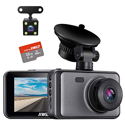 Dash Camera for Cars, 1080P Dash Cam Front and Rear and SD Card...