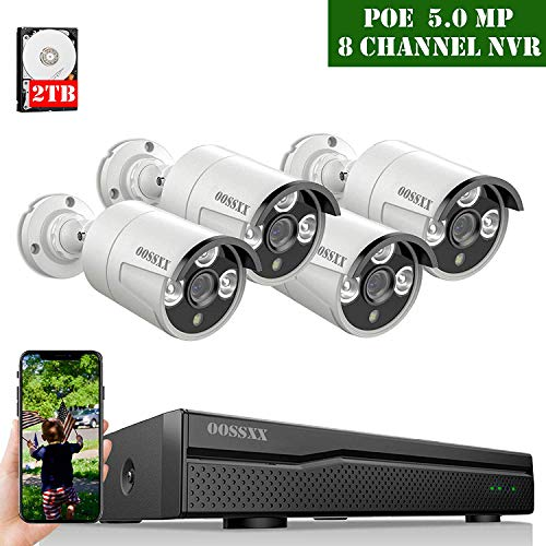 【2020 Update】 POE Security Camera System,OOSSXX 8CH 4K POE...