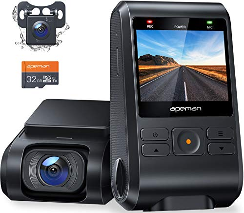 APEMAN Dual Dash Cam C550, 1080P Front and Rear Hidden Car...