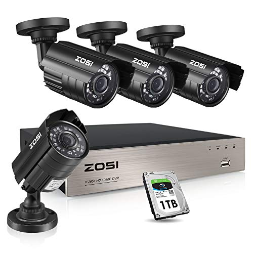 ZOSI 1080P Security Camera System with 1TB Hard Drive H.265+ 8CH...