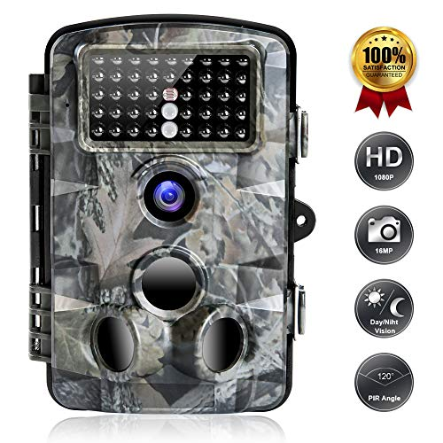FUNSHION Trail Game Camera, 16MP 1080P Trail Cameras with Night...