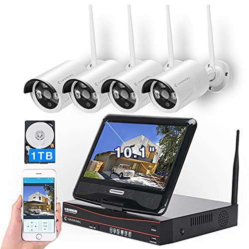 [8CH,Expandable] All in one with 10.1' Monitor Wireless Security...