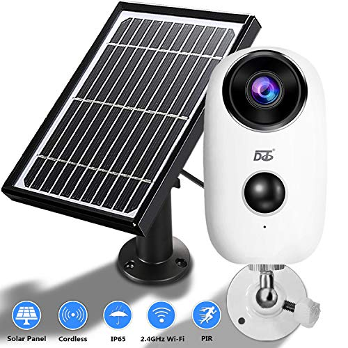 Solar Panel Wireless Camera, 1080 HD WiFi Outdoor Security Camera...