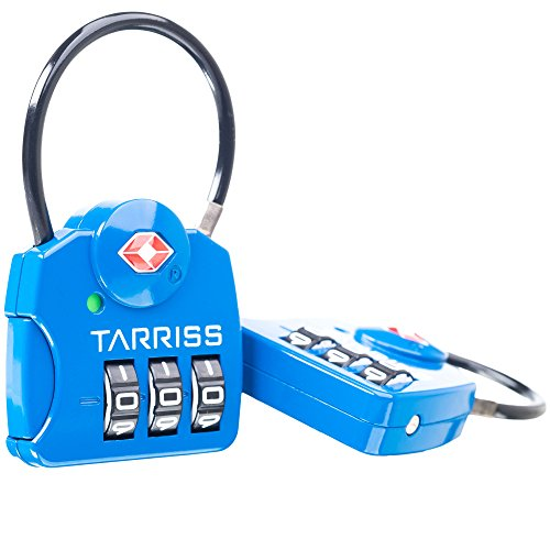 Tarriss TSA Luggage Lock with SearchAlert (2 Pack)
