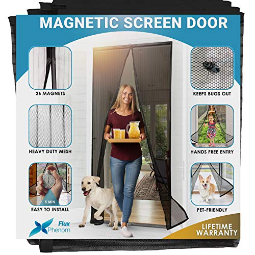 Flux Phenom Reinforced Magnetic Screen Door - Fits Doors up to 38...