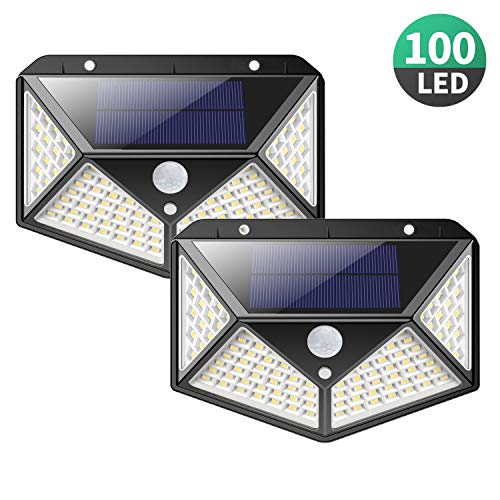 Solar Lights Outdoor [100 LEDs],Yacikos IP65 Waterproof Wireless...