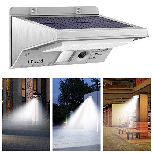 Solar Lights Outdoor Motion Sensor, iThird LED Solar Powered...