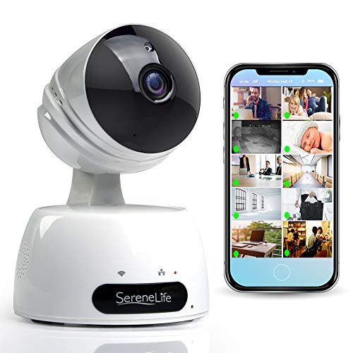 SereneLife Indoor Wireless IP Camera-HD 720p Network Security...