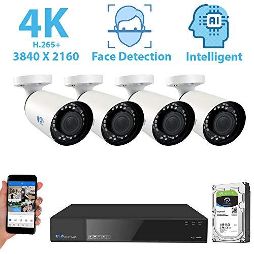 GW Security 8 Channel 4K NVR 8MP (3840x2160) H.265+ IP PoE...