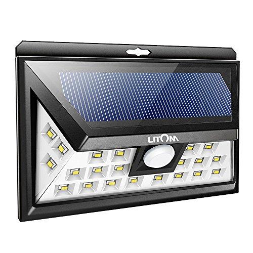 LITOM Original Solar Lights Outdoor, 3 Optional Modes Wireless...