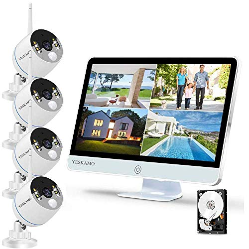 YESKAMO Long Range Wireless Outdoor Home Security Camera System...