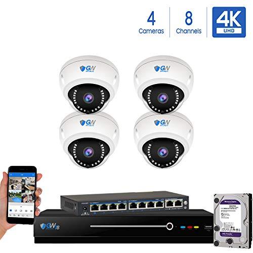 8 Channel 4K NVR 8 Megapixel H.265 4K Security Camera System, 4...