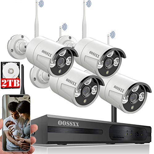 [Expandable 8CH] Wireless NVR Security Camera System Outdoor with...